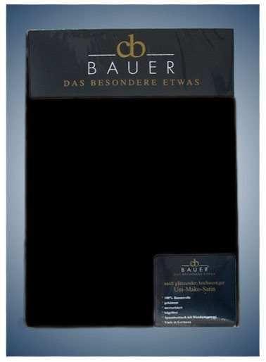 Spannbetttuch Mako Satin Curt Bauer in schwarz