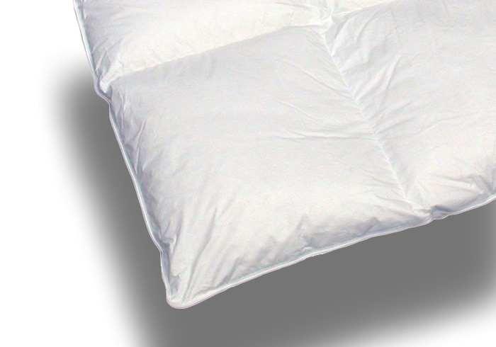daunenbettdecke 5x7 karos 100 daunen in bergr e 155x200. Black Bedroom Furniture Sets. Home Design Ideas