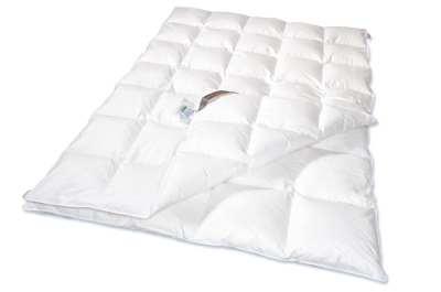 Vierjahreszeiten-Bett - 135x200 -100% Daunen