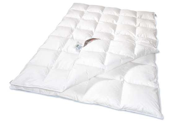 Vierjahreszeiten-Bett - 155x220 -80% Daunen / 20% Federn