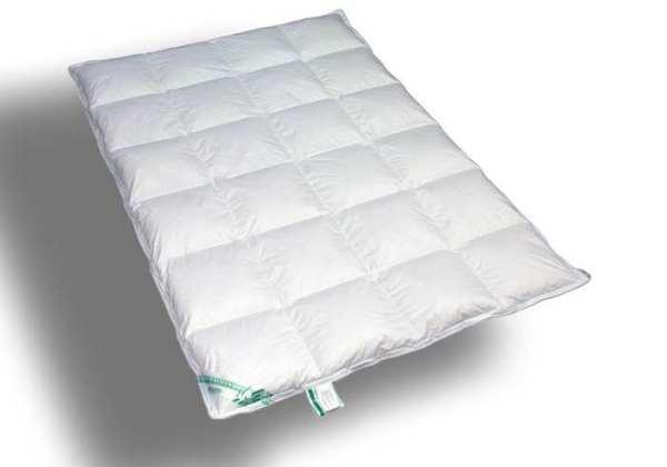 Kassetten-Bett 4x6  - 155x220 -100% Daunen