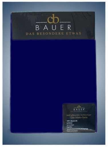 Spannbetttuch Mako Satin Curt Bauer in schattenblau