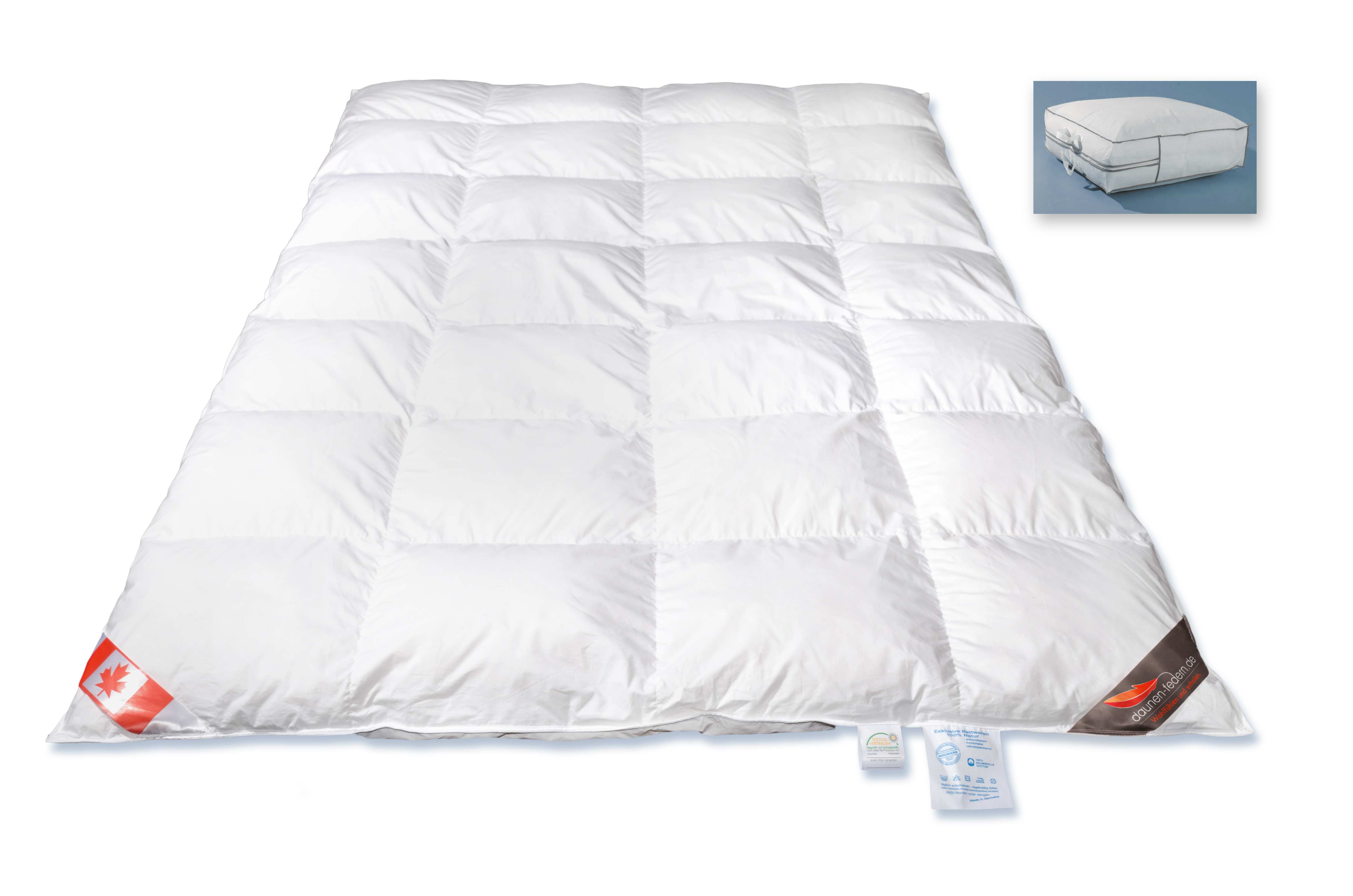 winter bettdecke 155x220 100 kanada g nsedaunen. Black Bedroom Furniture Sets. Home Design Ideas