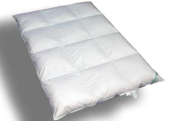 Kassetten-Bett 3x4  - 155x200 -100% Daunen